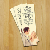 Save The Date Bookmark Sunnyside Wedding by sgcc on Etsy