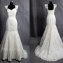 Vintage Lace Wedding Dress Bridal Gown Sweetheart Cap Sleeves Mermaid Wedding Dress with Train