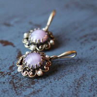 marveleuse in lilac earrings by Ollipop - $26.99 : ShopRuche.com, Vintage Inspired Clothing, Affordable Clothes, Eco friendly Fashion