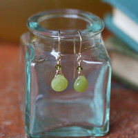 granny smith apple olive jade indie earrings - $17.99 : ShopRuche.com, Vintage Inspired Clothing, Affordable Clothes, Eco friendly Fashion
