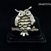 Sterling Silver Owl Ring - Fat Owl