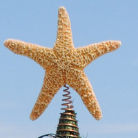 Starfish Tree Topper - Golden Sugar Starfish