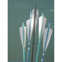 Arrows in Blue and Sea Green by verlaivans on Etsy