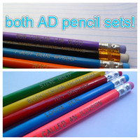 Both Arrested Development inspired pencil sets plus bonus mother boy XXX pencil