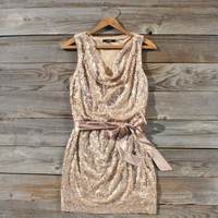 Golden Dew Party Dress, Sweet Women's Bohemian Clothing