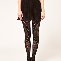 Gipsy Net Panel Tights at asos.com