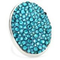 "TARINA TARANTINO ""Acid Cameo"" Crystal Pave Adjustable Ring in Raspberry Gummi"