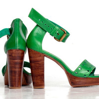 BOHEME. High heel shoes. Green Heels. US 5-14 sizes.