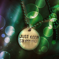Just Keep Swimming - FInding Nemo Necklace