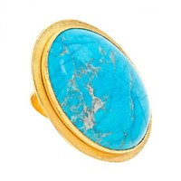 Big Chunk of Turquoise Ring | Bita Pourtavoosi