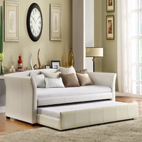 Deco White Vinyl Daybed with Trundle | Overstock.com
