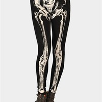 Skelator Print Legging - Black at Necessary Clothing