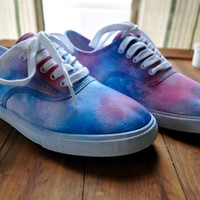 Red and Blue Tie-dye sneakers Size 7 Womans