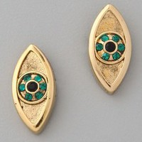 House of Harlow 1960 Evil Eye Stud Earrings