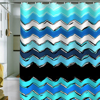DENY Designs Home Accessories | Sharon Turner Ocean Chevron Shower Curtain