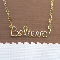 Believe necklace (14K gold filled wire)