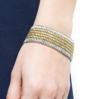 MANGO - ACCESSORIES - Jewellery - Contrasted beads bangle