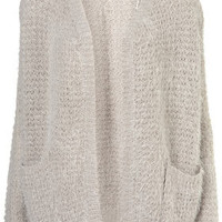 Knitted Stud Rib Cardigan - Knitwear  - Clothing