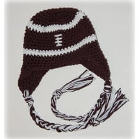Crocheted Football Earflap Hat by zjohnson on Etsy