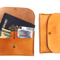 Womens Leather Passport Wallet, Passport Cover, Clutch Wallet, Small Wallet
