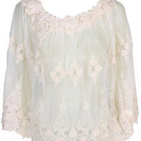 New Arrivals - Tops - Lace Poncho