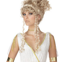 Athenian Goddess Wig - Blonde - Womens Halloween Costumes
