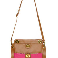 Amusement Ride Brown and Fuchsia Purse