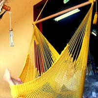 Yellow Almanza Hammock Chair VIEW VIDEO