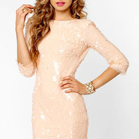 Blaque Label Angel Kisses Blush Sequin Dress