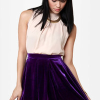 Royal Highness Purple Velvet Skirt