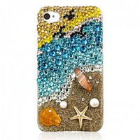 buy cheap Coast Crystal with real starfish & seashell Case for iPhone5,4,4S wholesale on China Gadget Land