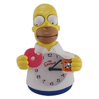 Simpsons Homer Simpson Animated Clock - NJ Croce - Simpsons - Clocks at Entertainment Earth