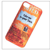 taco bell iphone 4 case, iphone 4s case, iphone 4 cover, iphone 5 case