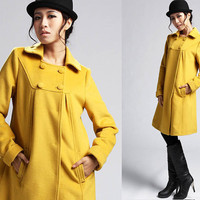 Yellow wool coat  (399)