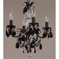 Merriwine Black Crystal Chandelier - New - Category - PoshLiving