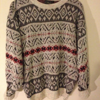 Vintage Nordic Pattern Jumper