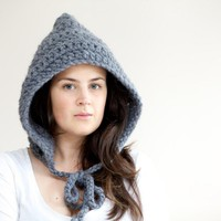 Pixie Hood - Crochet Hood Hat - Chu.. on Luulla