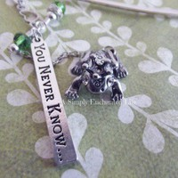 The Frog Prince Beaded Bookmark  *free shipping* by A Simply Enchanted Life
