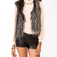 Duo-Toned Faux Fur Vest