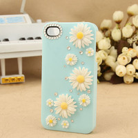 iPhone 4 Case iPhone 4S Case iPhone 4 cover iPhone 4S cover Daisies iphone 4/4S case