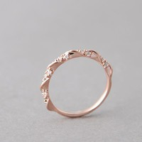 CZ ELEGANT SINGLE RIBBON RING ROSE GOLD STACKING RING by kellinsilver jewelry by Kellinsilver.com - Fashion and Costume Jewelry Shop as ETSY