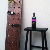 Plank Riddling Wine Rack by thezenartist on Etsy