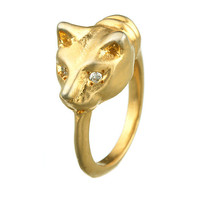 Playing Cat Ring by Natalie Frigo: Gold or Silver Ring - Artful Home