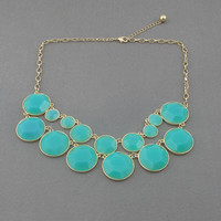 light blue bubble statement necklace,holiday party,birthday,bridesmaid gift,Beaded Jewelry,wedding necklace