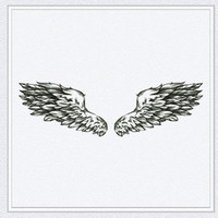 Tattoo temporary, Long lasting tattoo - Angel wings tattoo
