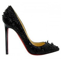 Christian Louboutin Crystal-Encrusted 120 Pump  $300,distinguished shoes brand on-line shop, such as louboutins, Gianmarco Lorenzi, Alaia??Alexander McQueen.