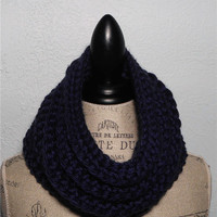 New 2Sisters Design Large Chunky Cowl Men or Women Accessories - Navy - Dark Blue