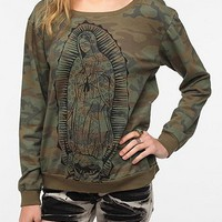 Truly Madly Deeply Graphic Camo Sweatshirt