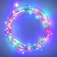 Starry String Lights - MultiColor Micro LED's - 20ft LED Light String with 120 LEDs on a Ultra Thin Copper String, Includes Power Adapter