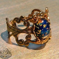 ALECTRONA Victorian Collage Ring by 19 Moons SPRING by 19Moons